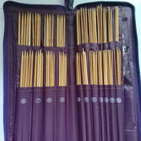 Sewing Tools & Accessory Knitting Needles Set With Case Bamboo Knitting Needles+Circular Needles+Crochet Hook for DIY Sewing