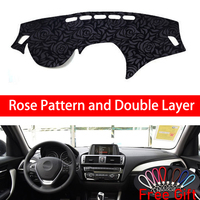 Rose Pattern For BMW 1 series F20 F21 2012 2019 Dashboard Cover Car Stickers Car Decoration Car Accessories Interior Car Decals