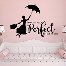 Diy flying woman perfect Wall Mural Removable Decal Vinyl Wallpaper Decoration Accessories Murals