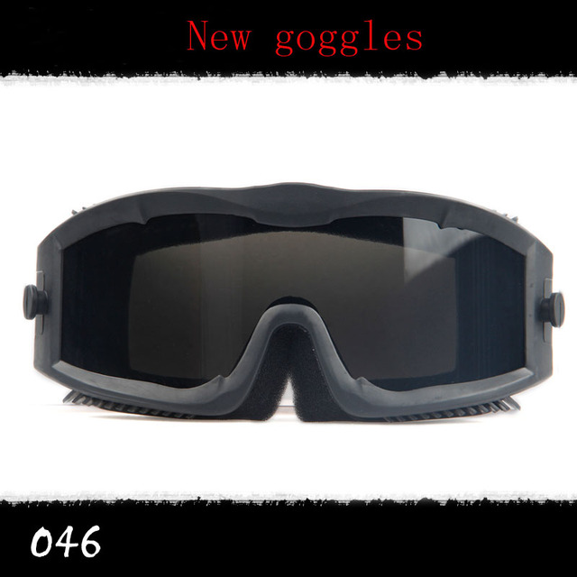 566207a44a72e New Militar Goggles Tactical Óculos de óculos de Sol Do Exército Airsoft  Paintball Tiro de Caça