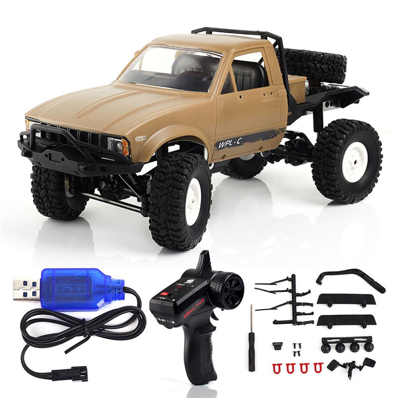 2018 Newest WPL C14 1:16 RC Truck Hynix 2.4G Mini Off-Road Remote Control Car 15km/H Top Speed Mini RC Monster Truck 4WD RTR rctown 1 16 rc truck wpl rc crawler car 2 4g mini off road remote control car mini rc truck toy