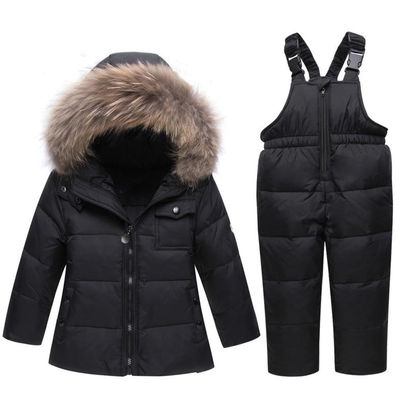 Hiver mode enfants bretelles doudoune ensemble épaissi chaud bébé doudoune fabricants personnalisé nouveau bébé veste