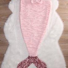Зимнее теплое супер мягкое детское одеяло «хвост русалки» для девочек, спальный мешок, костюм