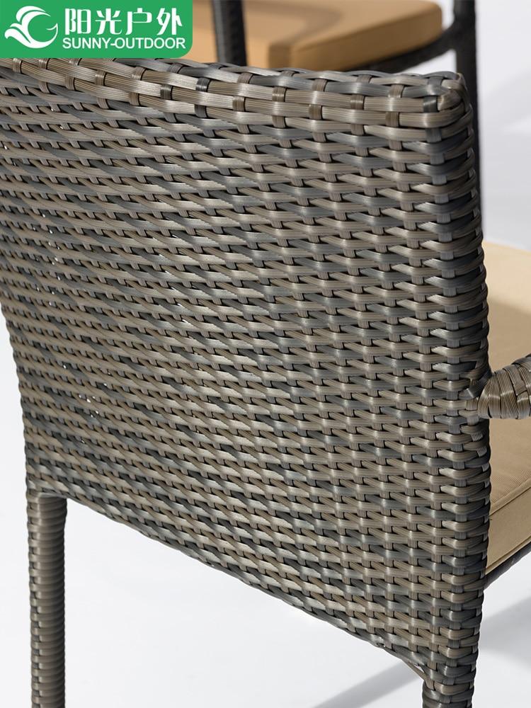 Купить с кэшбэком Furniture wicker chair three or five sets of combination table and chairs modern leisure balcony garden garden coffee table