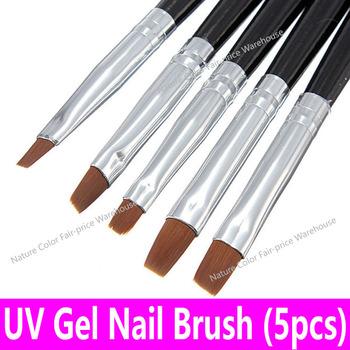 5 sztuk 1 zestaw akrylowe UV pędzelek do żelu płaskie malarstwo pióro do rysowania Nail Art Design zestaw Liner polski budowniczy narzędzie zestaw rozmiar 2 #4 #6 #8 #10 # tanie i dobre opinie Szczoteczka do paznokci 5pcs set MININAIL UV Gel Brush Set 5pcs Black 18 5 - 18 8cm