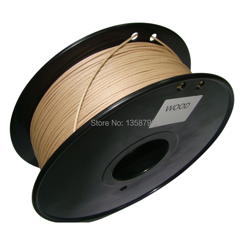 все цены на wood color 3d printer filament Wood 1.75mm/3mm 0.8kg Consumables Material MakerBot/RepRap/UP/Mendel Newest онлайн