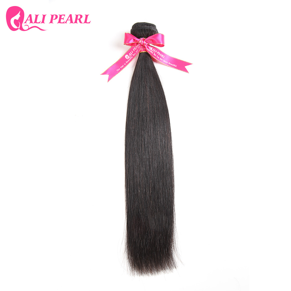 AliPearl Hair 1 Piece Only Brazilian Remy Hair Straight Human Hair Weave One Bundle Natural Black Color 1b Free Shipping