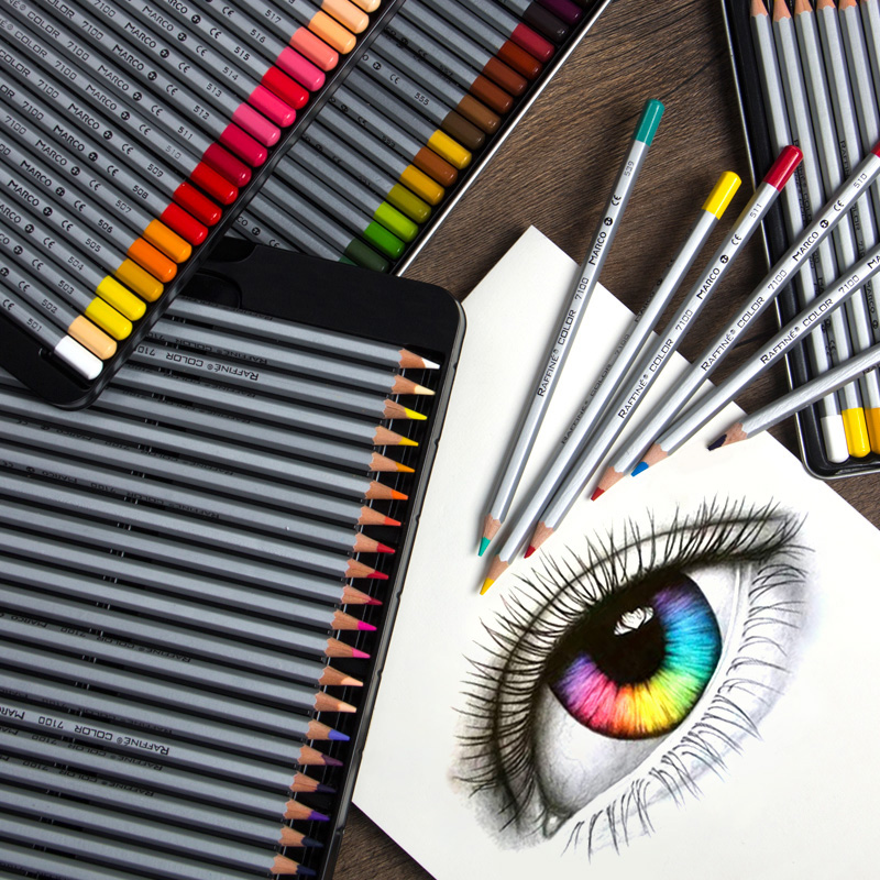 Art Oil Colored Pencils 24/36/48/72 Colors Drawing ...