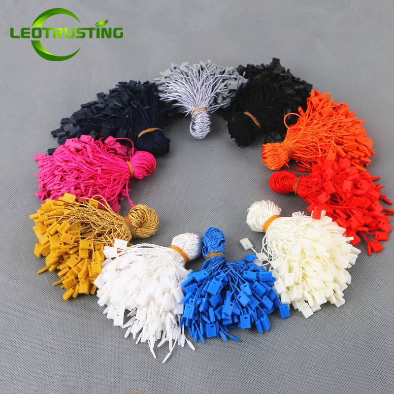 5000pcs Bag 18cm Length Color Tags Rectangle Rope Strings Cords String Seal Garment Wedding Dress T
