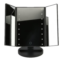 New 1Set Portable 3 Folding Table LED Lamp Luminous Makeup Mirror Cosmetic Mirror Adjustable Tabletop Countertop Light Mirror