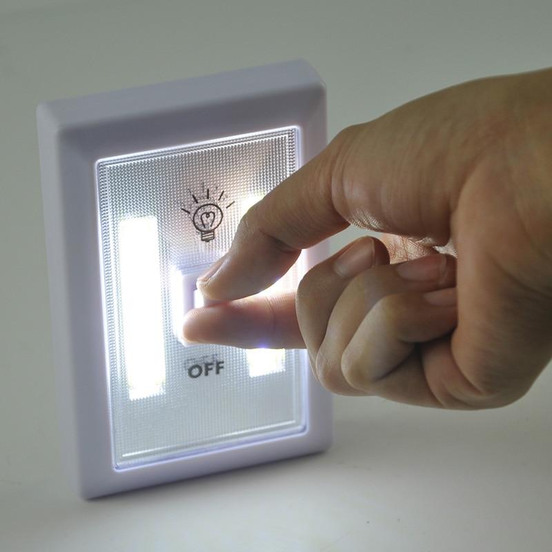 BORUiT Magnetic LED Cabinet Light with Switch Wireless Wardrobe Nightlight Cupboard Closet Light for Bedroom Kitchen Lighting