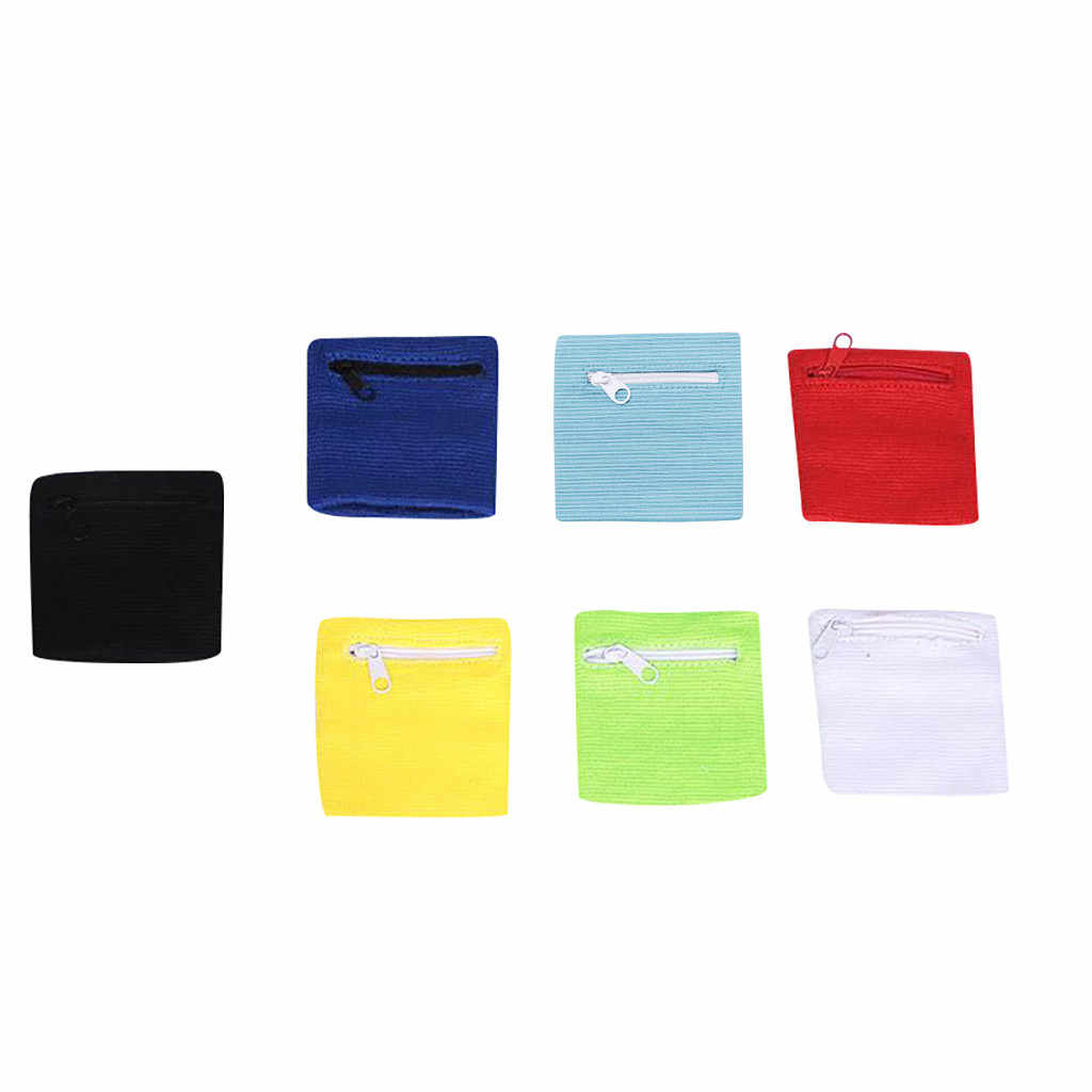 Бумажник, крепящийся на запястье бегущий спортивный ремень на руку сумка для MP3 ключ сумка для визитных карточек чехол для бадминтона баскетбольный браслет Sweatband4.0 #