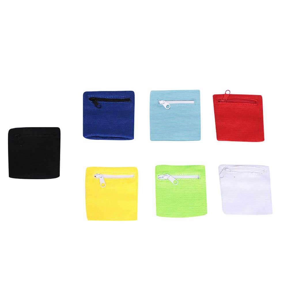 Bolso de la correa del brazo de los deportes de la Bolsa de la cartera de la muñeca para el bolso de almacenamiento de la tarjeta MP3