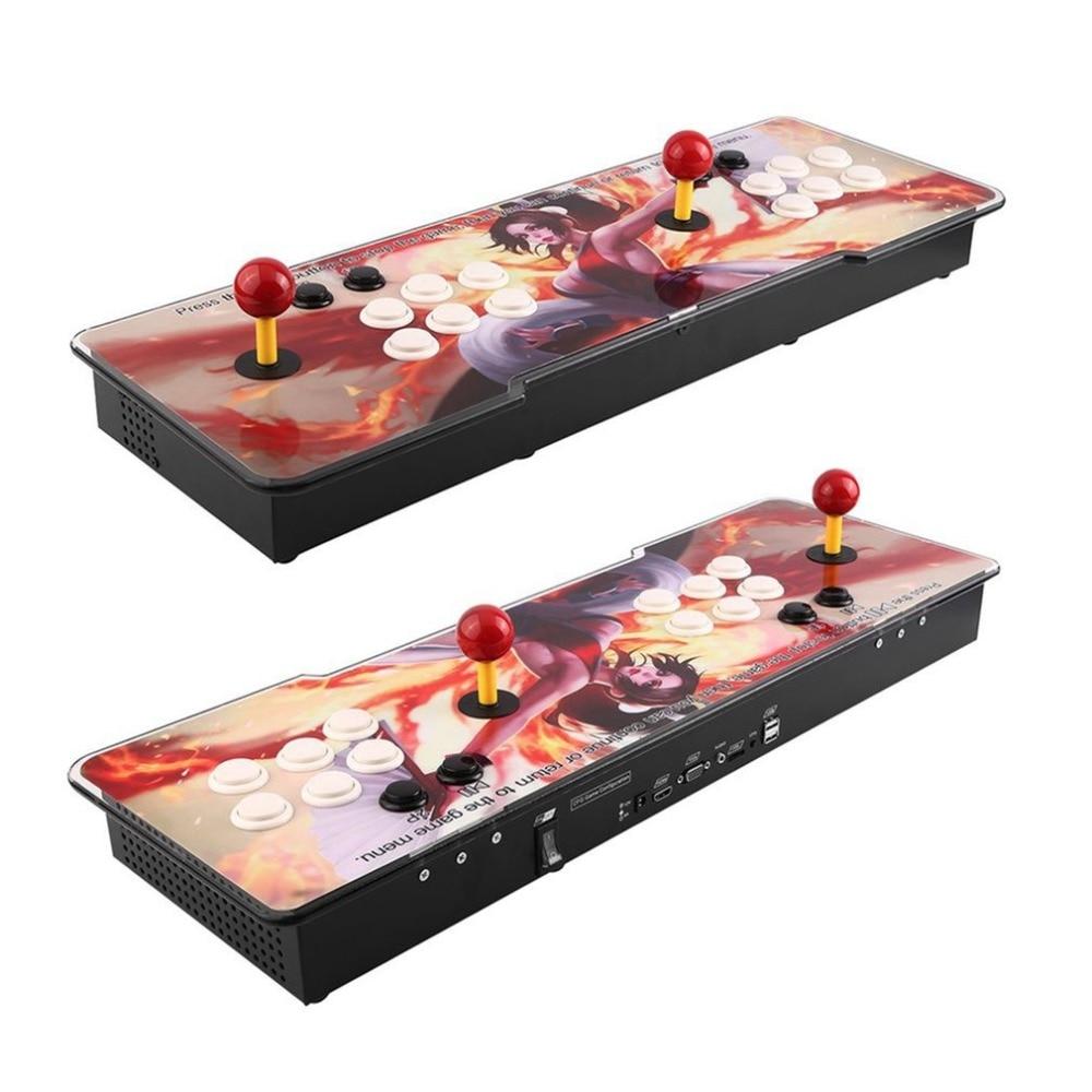 999 In 1  Games Arcade Console Usb Joystick Arcade Buttons Kit Double Joystick Console With Flash Light Support HDMI VGA EU plug