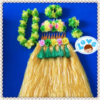 1sets/lot S826# Event & Party suppliers Hawaiian Hula Grass Skirt Flower Party Dress Beach Dance Costume Free Shipping