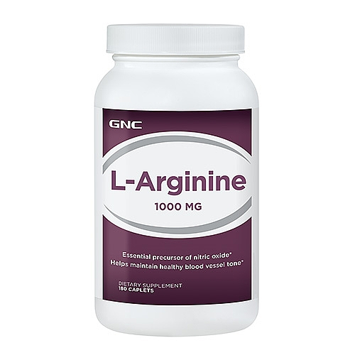 GNC L-Arginine 1000MG 180 Caplets Item #164222 gnc women s ultra mega active without iron 90 caplets free shipping u s a original imported