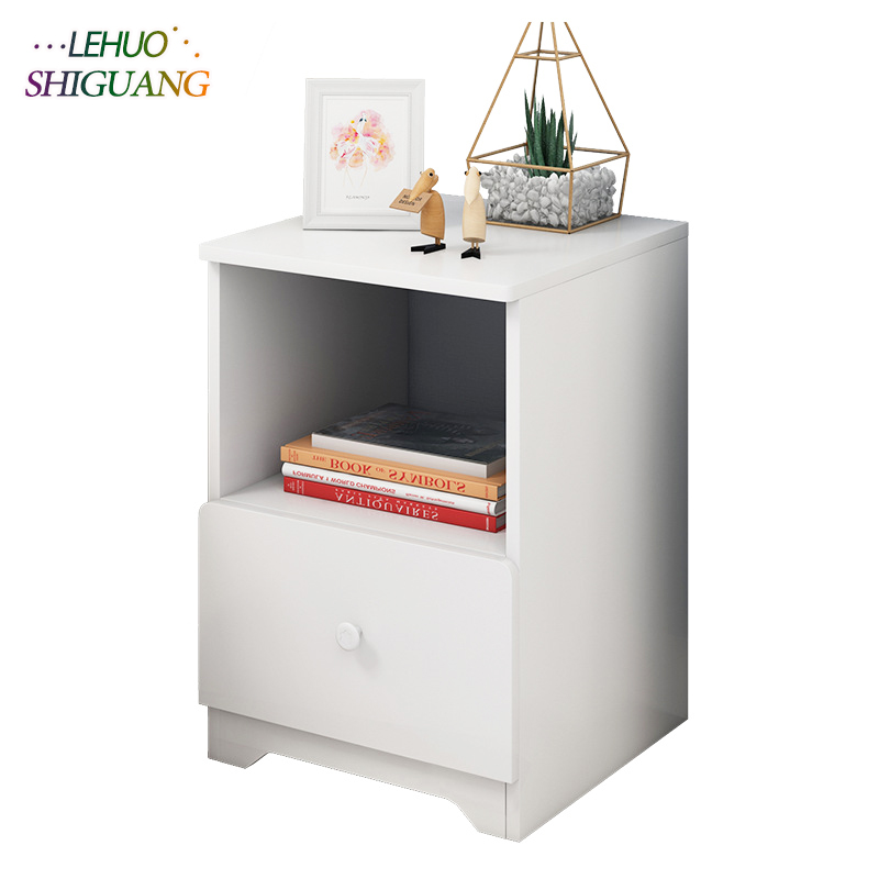 MDF Wooden Nightstand Storage cabinet With drawer Organizer Detachable Assembly Bedside table bedroom fashion furniture zen s bamboo nightstand miti function storage drawer cabinet bed side table living bedroom funiture