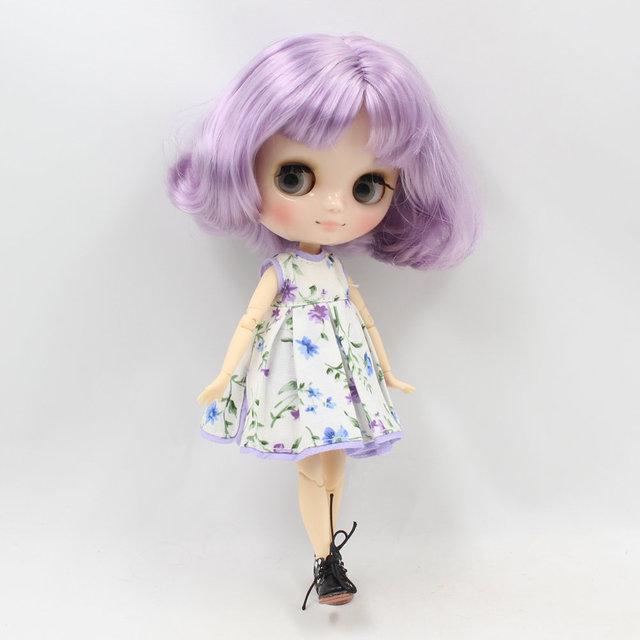 ICY Middie Blythe Doll Qısa Qəhvəyi Saç Dərisi Bədən 20cm