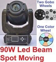 4 xLot Горячая 90 Вт светодио дный led Moving Head Light Professional луч пятно этап парное светодиодное освещение DMX Диско DJ проекта Огни ЖК дисплей 3 граней Prism