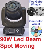 4xLot Hot 90W LED Moving Head Light Professional Beam Spot Stage Par Led Lighting DMX Disco DJ Project Lights LCD 3 Facets Prism