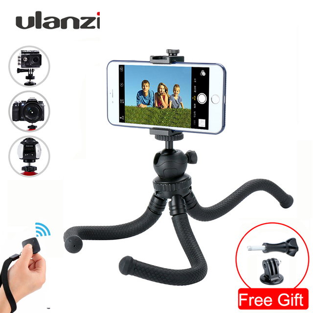 Ulanzi Lightweight Tripod Camera Holder Flexible Octopus Monopod With Ballhead for iPhone 7 8 X Xs Samsung xiaomi Gopro 7 Camera
