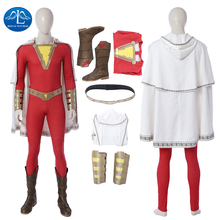 Billy Batson Cosplay Halloween Costumes For Men Adult DC Superhero William Joseph Captain Marvel Outfit Full Set Custom Made