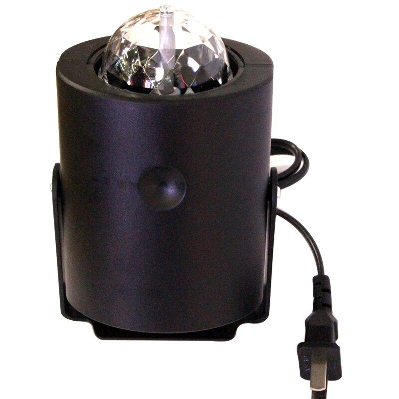 10pcs/pack Mini RGB LED Crystal Magic Ball Stage Effect Lighting Lamp Party Disco Club DJ Bar Light Show 100-240V EU US Plug