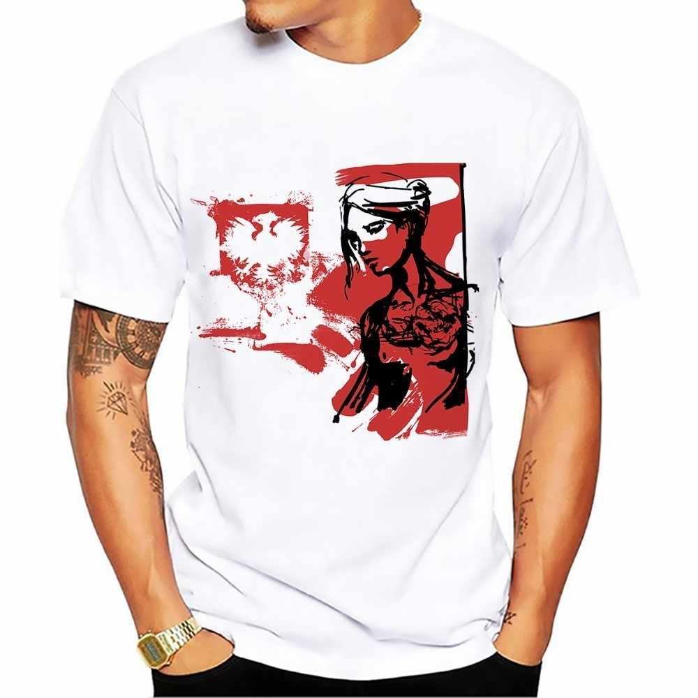 ポーランド電源騎兵騎士芸術 tシャツ男性 2018 夏新白カジュアルオムクールポーランド軽騎兵 tシャツ