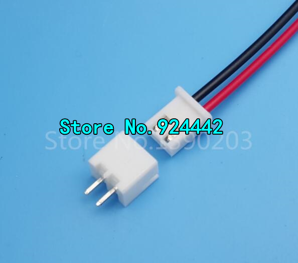 ▻XH Pitch 2.54mm Single-Head 2Pin 2Way Wire To Board Connector 15cm ...