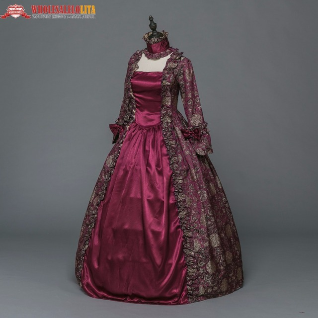 Gothic Period Medieval Dresses Ball Gown Clothing Masquerade Queen Reenactment Theatre