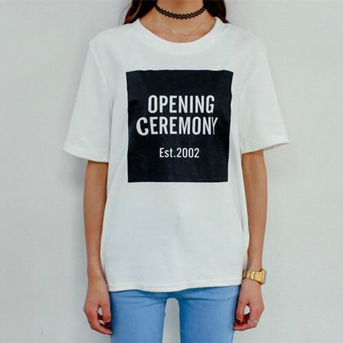 Модный крутой дизайн Горячая церемония открытия ретро отделка свободные короткие буквы Женщины Мужчины любовник короткий рукав футболки