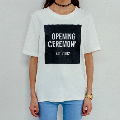 rétro dans cérémonie courtes femmes Mode de d'ouverture lettre hommes T shirt Shirts brève chaude conception lâche manches finition à t fraîche Mode amant wXqxACUT