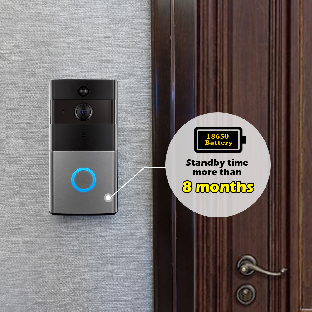 golden security wifi video intercom doorbell 720p hd alarm. Black Bedroom Furniture Sets. Home Design Ideas