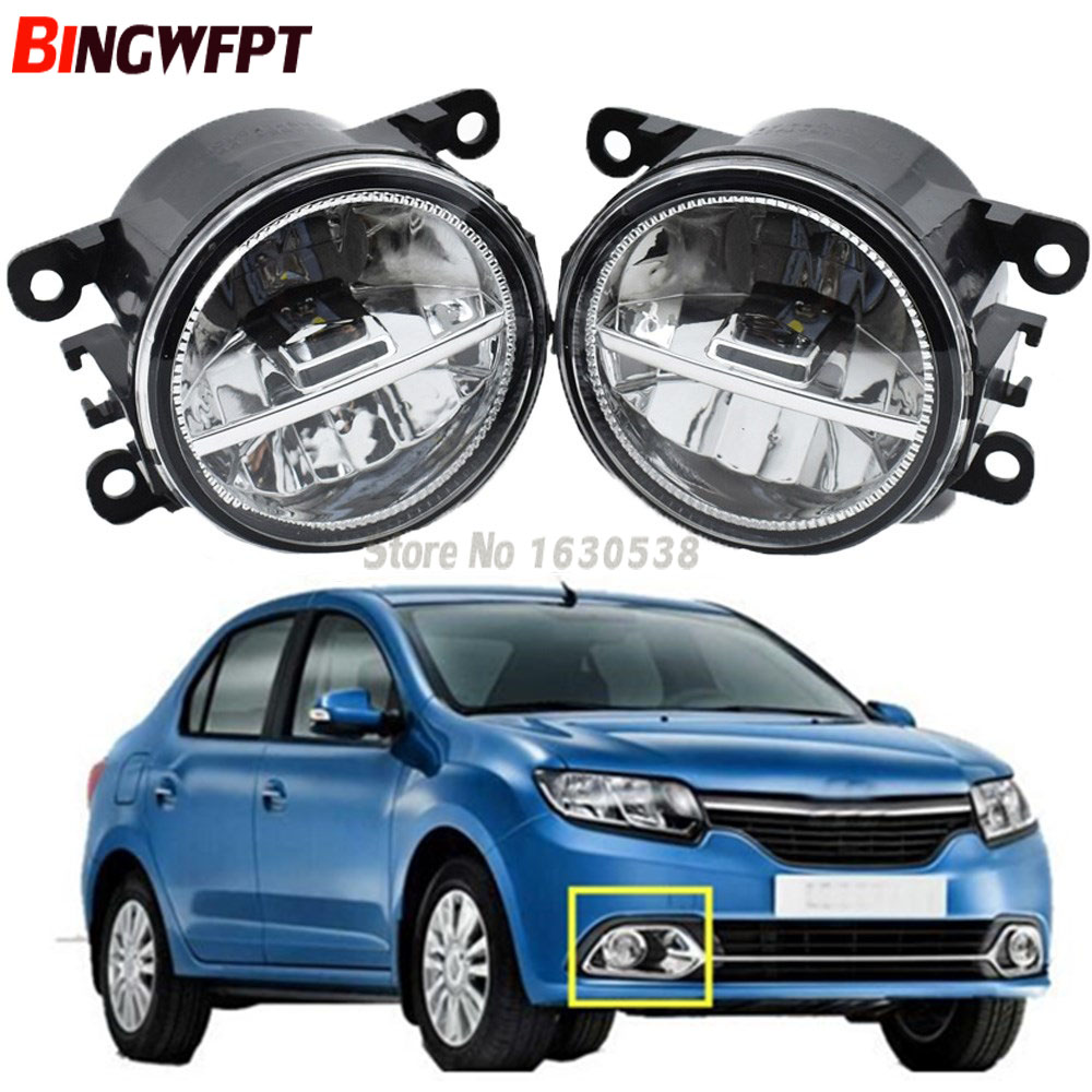 2x Car Styling Led Fog Lights High Brightness Fog Lamps For Renault DUSTER LATITUDE LOGAN Laguna MEGANE 2/3/CC Saloon LS LM0 LM1