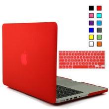 laptop Matte Rubberized Hard Cover Case +US keyboard TPU for Macbook 11 12 13 15
