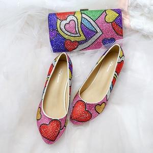Girls Shoes and Bag Set Cartoo