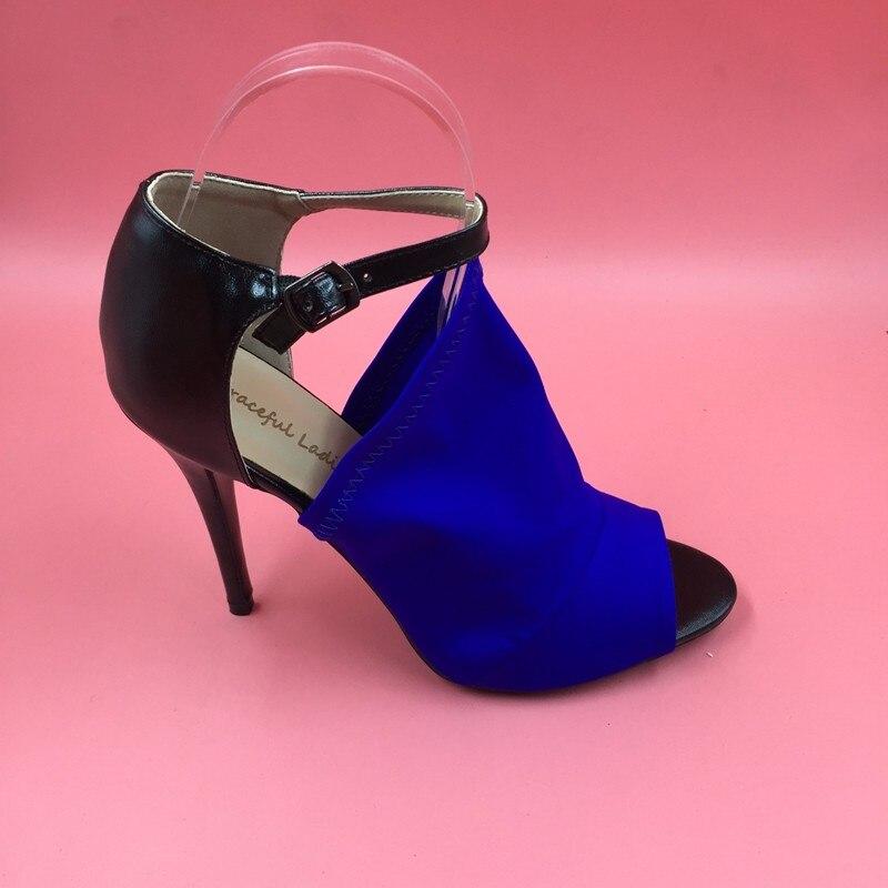US $81.84 7% OFF|Royal Blue Slingbacks Open Toe High Heel Stilettos Shoes Women Sandals Shoes Nude Bottom Shoes For Women Gold High Heel Shoes in