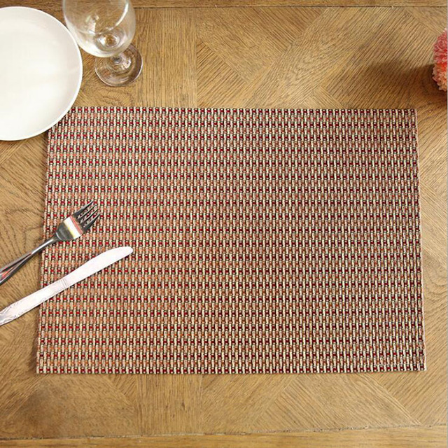 30x45cm Fashion Design PVC Table Mat Waterproof Non Slip Tableware Mats  Creative Dining Table Mats