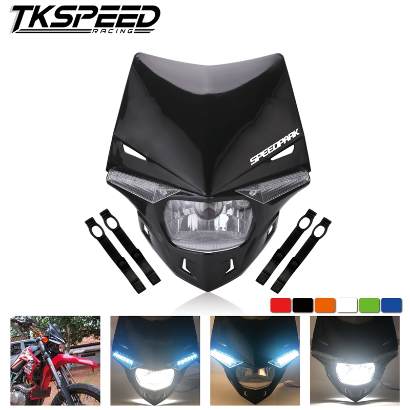 <font><b>Universal</b></font> H4 Motorcycle <font><b>Headlight</b></font> <font><b>Dirt</b></font> <font><b>Bike</b></font> Motocross Dual Sport Head Light For KTM EXC SX SXF XC MX SMR Enduro Supermoto image