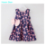Humor estilo 2016 bowknot lindo ciervo Oso niños ropa de verano Vestido de Las Muchachas Vestidos niños Ropa de Bebé Ropa de Niños