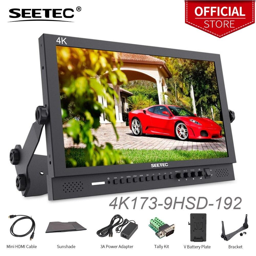 Seetec дюймов 17,3 дюймов ips алюминиевый дизайн 1080x1920 4 К вещательный монитор с 3G SDI HDMI AV YPbPr 4K173 9HSD 192 (оригинальный P173 9HSD)