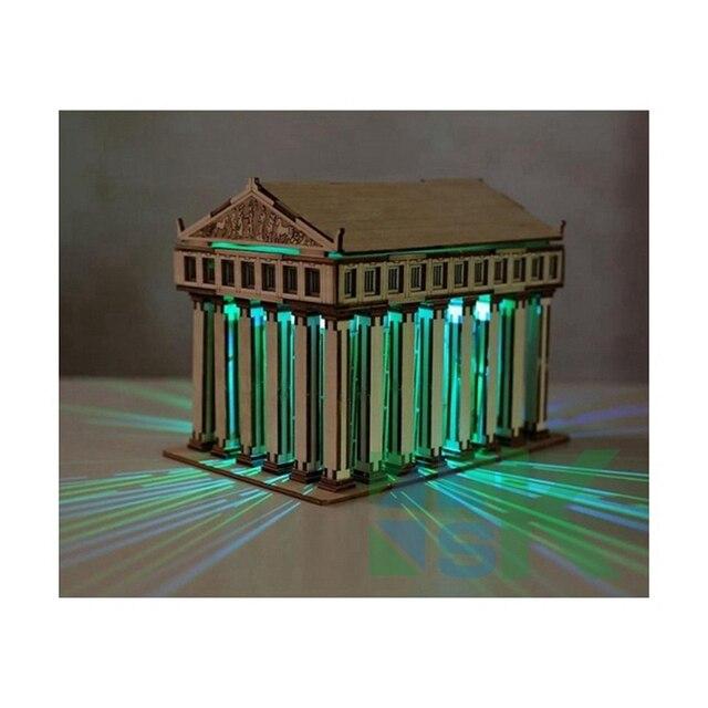 Soggiorno decorazione della casa tessuto di legno DIY 3D modelli ...