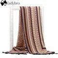 Ladybro Brand Design Bufanda Invierno de Las Mujeres de Bohemia de Las Borlas de Algodón Bufanda Larga Caliente Bufandas Y Chal Wrap Nuevo Hijab Para Mujer