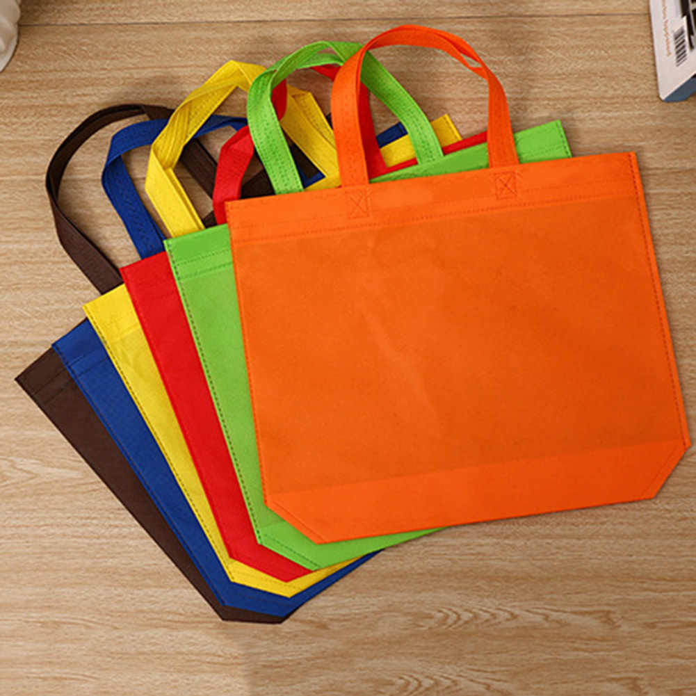 Hot Sale Foldable Large Canvas Shopping Bag Reusable Eco Tote Bag Unisex Fabric Non-Woven Shoulder Bags Grocery Cloth Tote Bags