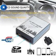 Nuevo Reproductor de Música MP3 Del Coche AUX USB SD Adaptador de Coche cargador para ford focus galaxy ka mondeo s-max/c-max orion explorer interfaz