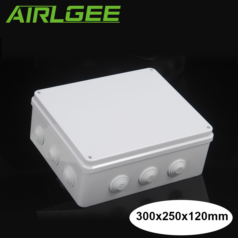 ABS Plastic Waterproof Junction Box IP65 Electronic Case Sealed housing Outdoor Wires connect Box 300x250x120mm LxWxH