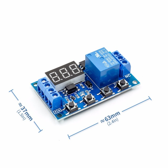 6-30V Relay Module Switch Trigger Time Delay Circuit Timer Cycle Adjustable R06 Drop Ship