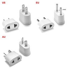 New White US Plug Adapter Converter EU To American AC Travel Power Electrical Socket Outlets