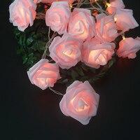 Романтическая гирлянда с розами со светодиодными лампами, праздничная Гирлянда для украшения свадьбы/рождества, новогодние принадлежност...