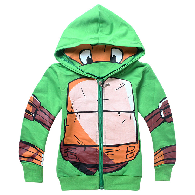 ON SALE Teenage Mutant Ninja Turtles Boys Jacket Children boys Hoodie Long sleeves cap sleeved tops